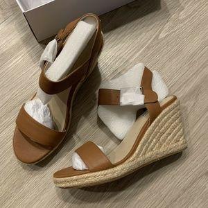 Steve Madden Maya Espadrille Wedge Sandals Cognac